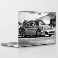 porsche Laptop & iPad Skins featuring Porsche  by Marcela Caraballo