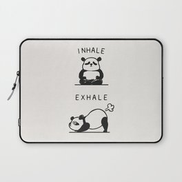 Inhale Exhale Panda Laptop Sleeve
