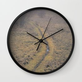 When The Path Takes A Sharp Left, Keep Walking Wall Clock