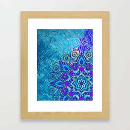 V13 Colored Floral Abstract ART Painting Framed Art Print