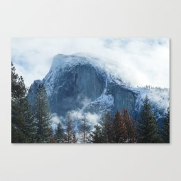 Ice-capped Half Dome at Sunrise | Yosemite National Park, California Canvas Print
