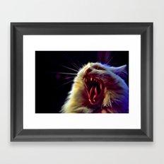 CAT !!! Framed Art Print