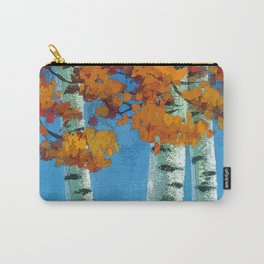 Poplars in autumn Carry-All Pouch