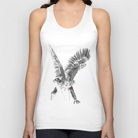 winter soldier Tank Tops featuring winged winter soldier by Zee Mendoza
