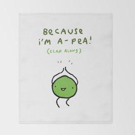 Happy Pea Throw Blanket