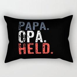 Papa Grandpa Hero Rectangular Pillow