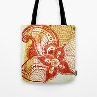 rare Tote Bags featuring Rare Bloom by SecondLevelPrints