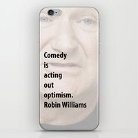 robin williams iPhone & iPod Skins featuring Robin Williams by panamashirt