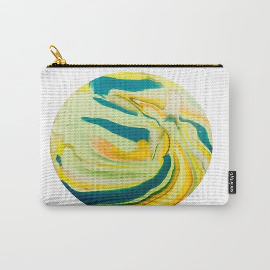 What The World Needs Now. Yellow Marble. Carry-All Pouch