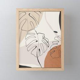 Minimal Abstract Art- Monstera Framed Mini Art Print