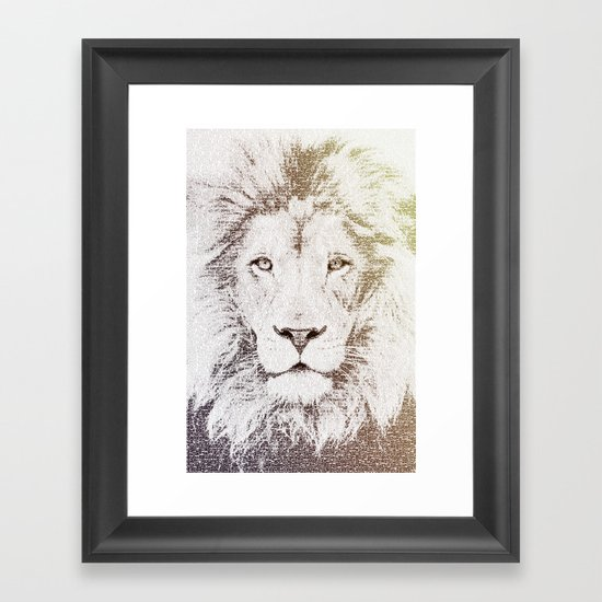 The Intellectual Lion Framed Art Print