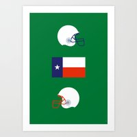 friday night lights Art Prints featuring Iconic TV Shows: Friday Night Lights by re:design