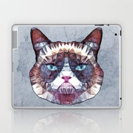 abstract grouchy cat Laptop & iPad Skin
