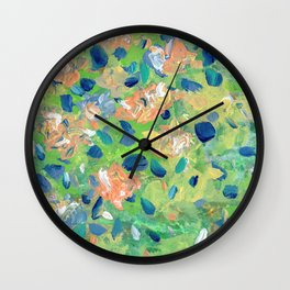 Just Because - Abstract floral Wall Clock