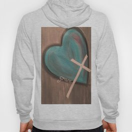 Grace Heart Cross Hoody