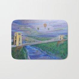 Clifton Suspension Bridge - Hot air balloon festival Bath Mat