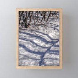 Fairy bear with heart discovered in Snow Framed Mini Art Print