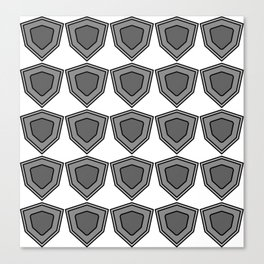 shields in shades of grey Canvas Print