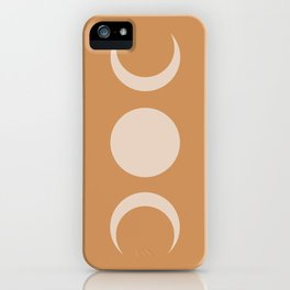 Moon Minimalism - Desert Sand iPhone Case