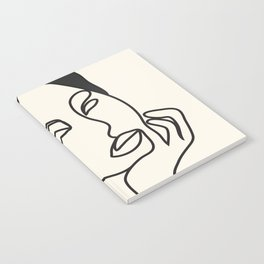 Drawing female face portrait III Notebook