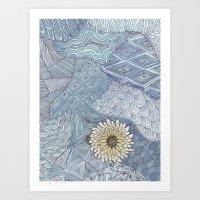 daisy Art Prints featuring Daisy by sinonelineman