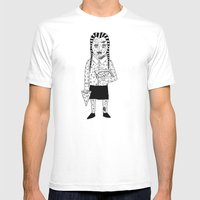 WEDNESDAY ADDAMS Mens Fitted Tee White MEDIUM