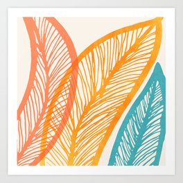 Tropical Flora - Retro Palette Art Print