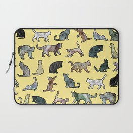 Cats shaped Marble - Sun Yellow Laptop Sleeve
