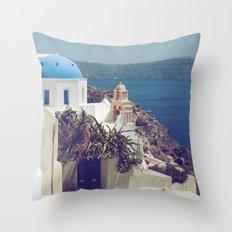 Santorini Door VI Throw Pillow