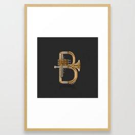 Alphabet Orchestra - B Framed Art Print