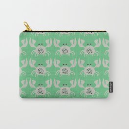 Vintage Crabby Pattern in Green Carry-All Pouch