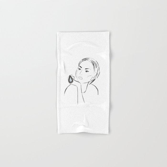 Marble Ring Hand & Bath Towel