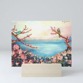 Magnolias - Geneva-Leman lake swiss Mini Art Print