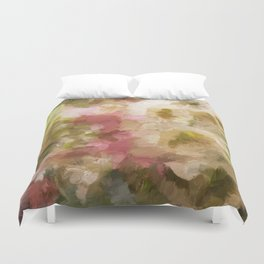 Impasto Flowers Duvet Cover