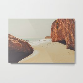 Beach Day - Ocean, Coast - Landscape Nature Photography Metal Print