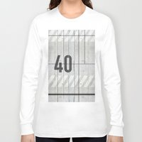 concrete Long Sleeve T-shirts featuring background concrete by Tony Vazquez
