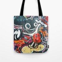 deadmau5 Tote Bags featuring Mickey Mau5 by Matt Pecson
