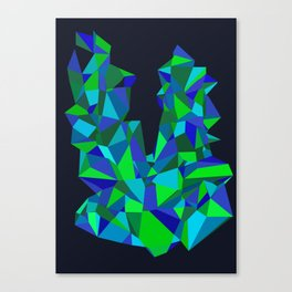 Triangle Abstract Canvas Print