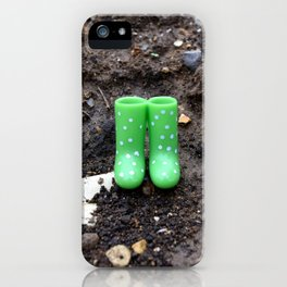 Wellies in the dirt iPhone Case