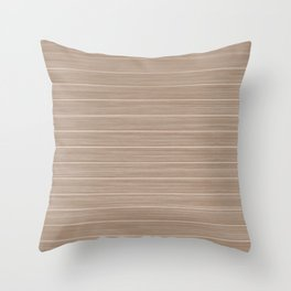 Light Hazelnut Brown  Weathered Whitewash Wooden Beach Hut Throw Pillow