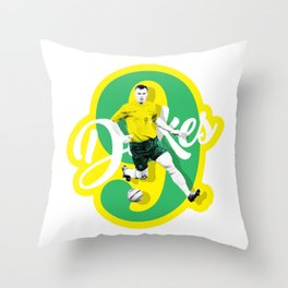 Mark 'Dukes' Viduka Throw Pillow