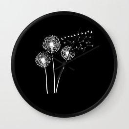 Dandelion Birds Swallow Floral print Gift Wall Clock
