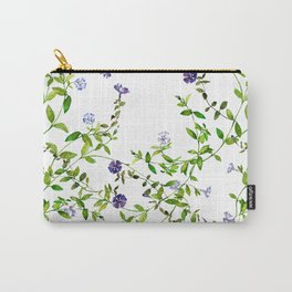 Purple periwinkle vine in watercolor Carry-All Pouch