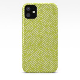 Chartreuse hand drawn pattern iPhone Case