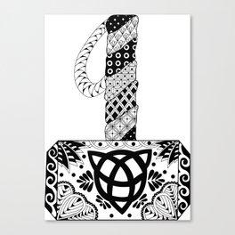 Mjolnir Mandala Canvas Print