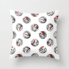 Polka koi Throw Pillow