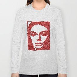Barbara Steele in Red Long Sleeve T-shirt