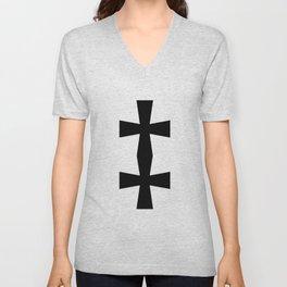 Double Dagger (Black & White) Unisex V-Neck
