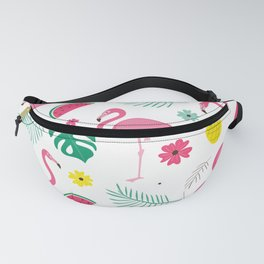 Pink flamingo Tropical  Fanny Pack