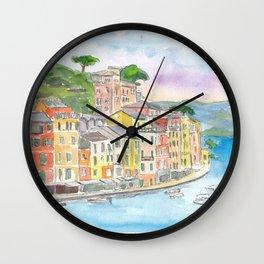 Portofino Ligure Dream Seafront View Wall Clock